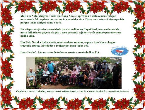 Cartão Natal RAFA